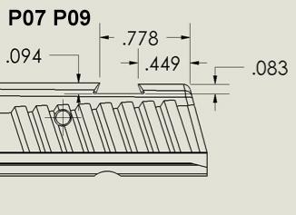P07 / P09 Rear Sights