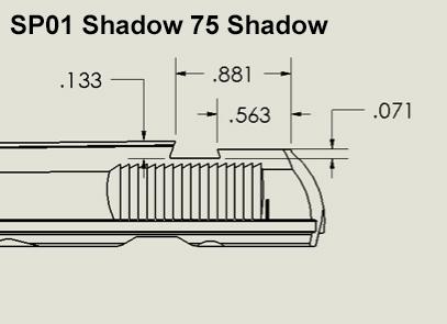 SP01 Shadow / 75 Shadow Rear Sights